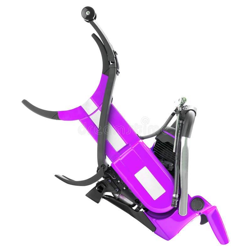 Фиолетовая электрическая изолированная пила стоковая фотография rf