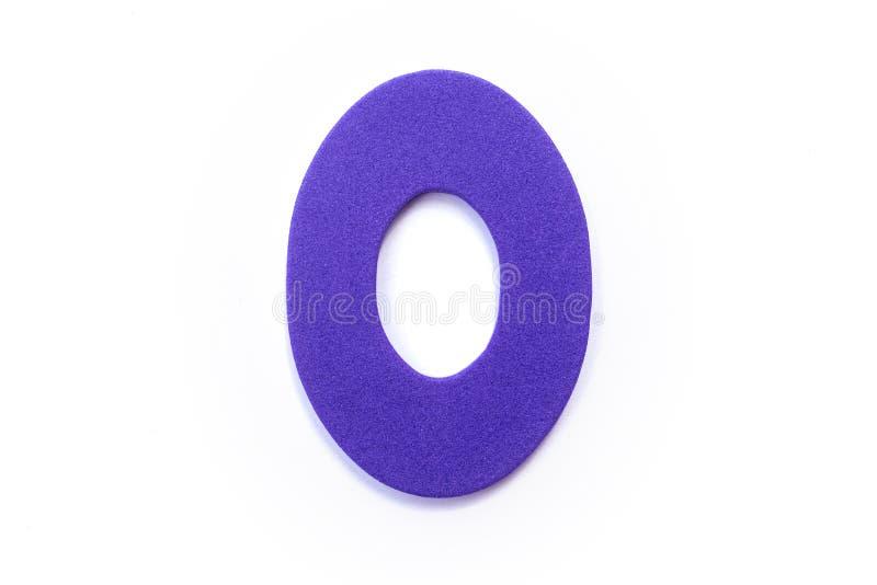 Фиолетовое письмо o стоковые фотографии rf