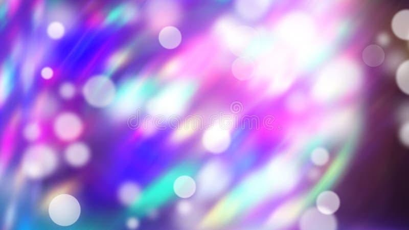 Фиолетовые бродяжничая света - красивое влияние bokeh, 3d представить предпосылку, компьютер произвело фон иллюстрация штока