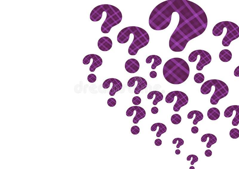 фиолетовые покрыванные соломой вопросительные знаки иллюстрация вектора