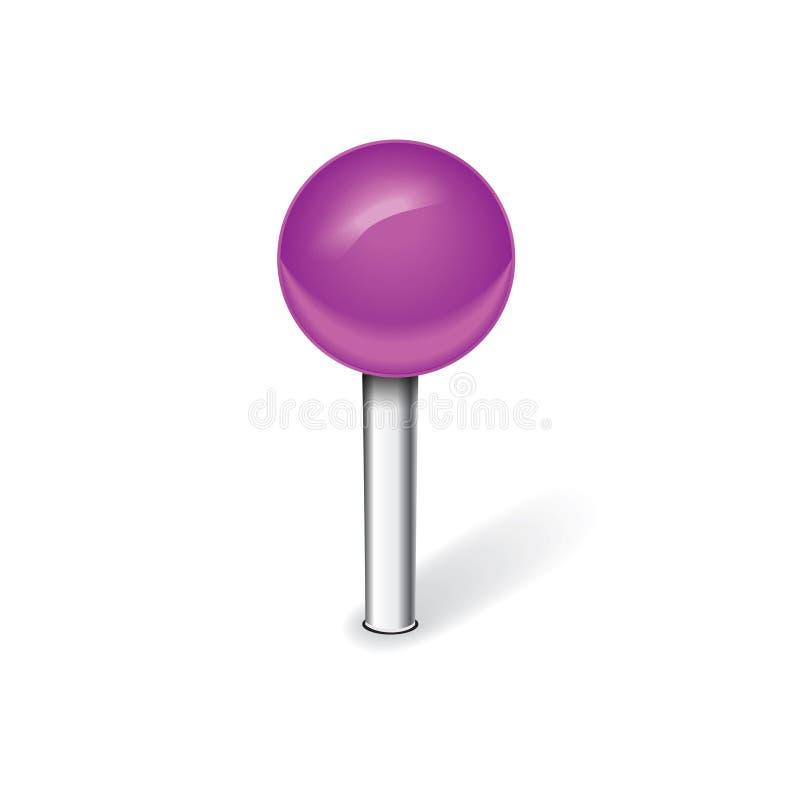 Фиолетовый штырь иллюстрация вектора