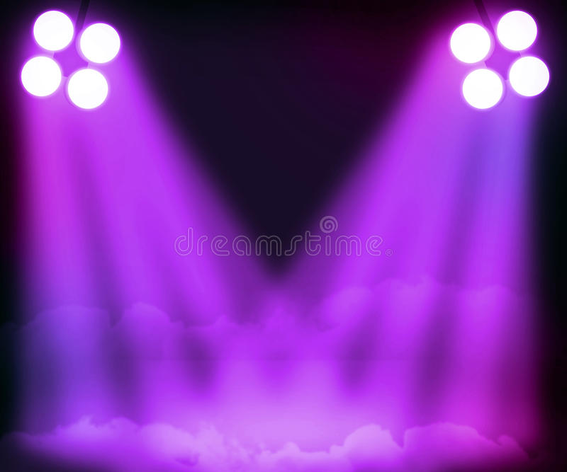 фиолет фары предпосылки иллюстрация штока