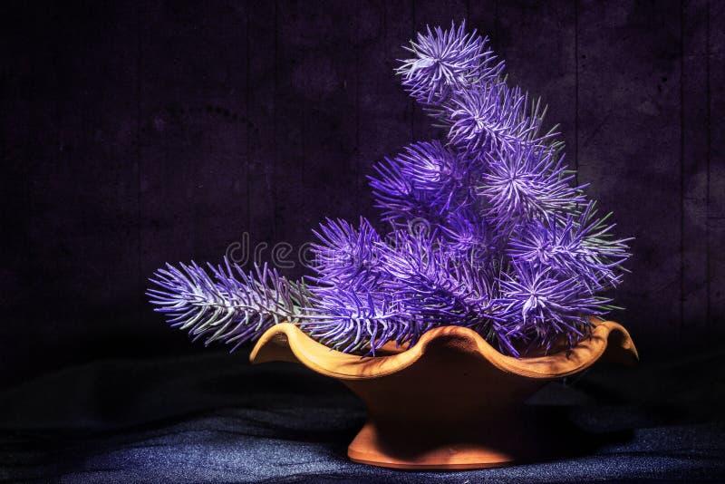 Фиолет цветет состав grunge стоковые фото