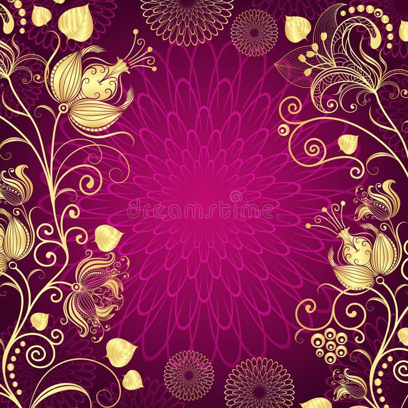 Фиолетовая винтажная рамка иллюстрация вектора