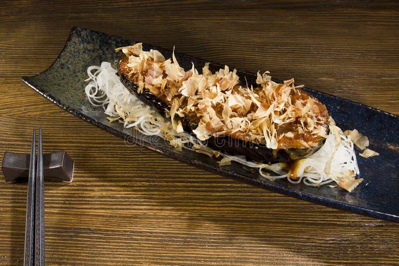 Фиолетовая еда японца баклажана стоковое изображение rf