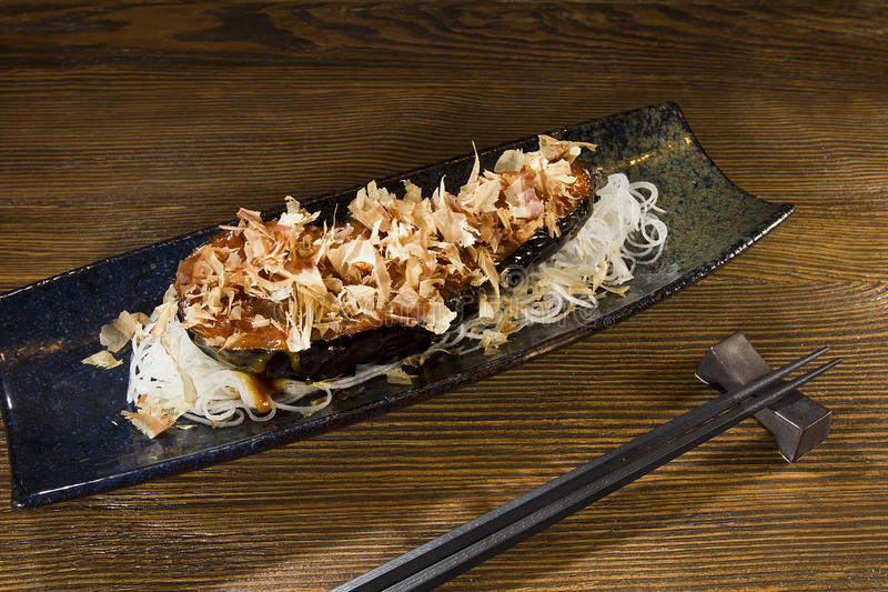 Фиолетовая еда японца баклажана стоковая фотография rf