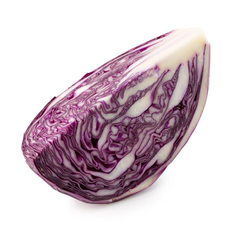 Фиолетовая капуста изолированная на белой предпосылке стоковое фото rf