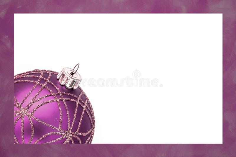 Фиолетовая карточка классики рождества стоковые изображения rf