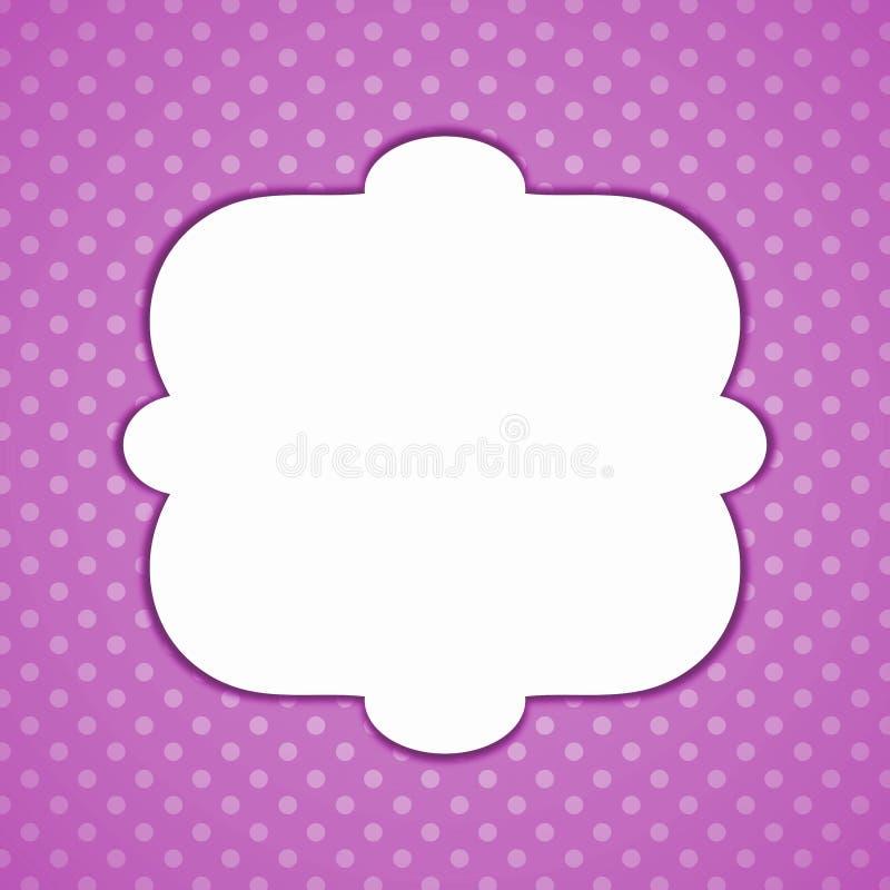 Фиолетовая карточка приглашения точки польки винтажная иллюстрация штока
