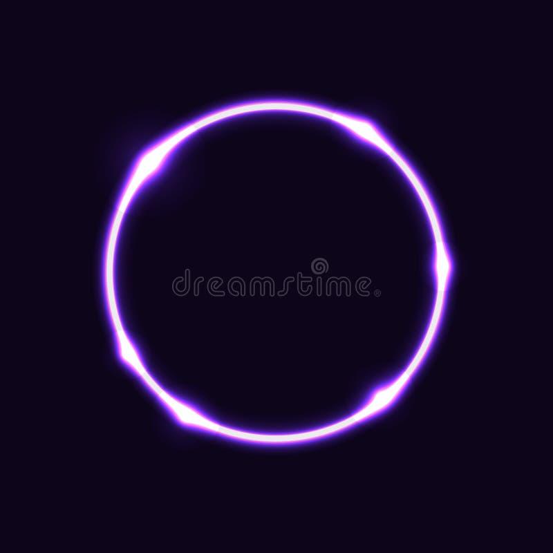Фиолетовая предпосылка влияния круга иллюстрация штока