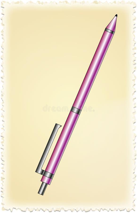 Фиолетовая ручка стоковое фото