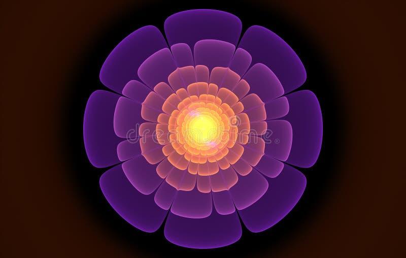 Фиолетовая фракталь цветка стоковая фотография