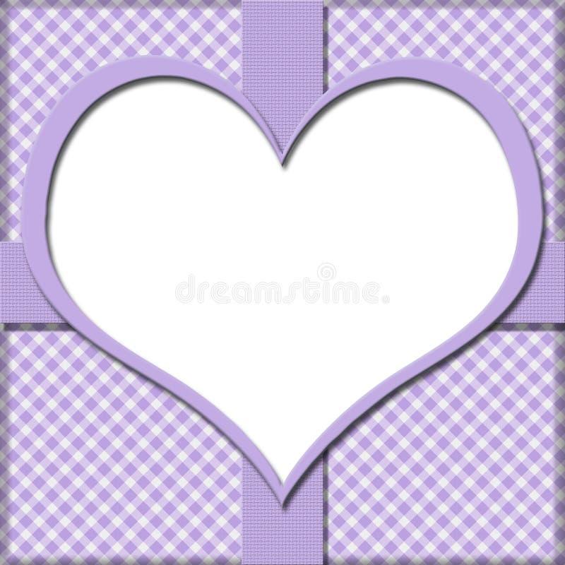 Фиолетовая холстинка с центром сердца и предпосылкой ленты для вашего бесплатная иллюстрация