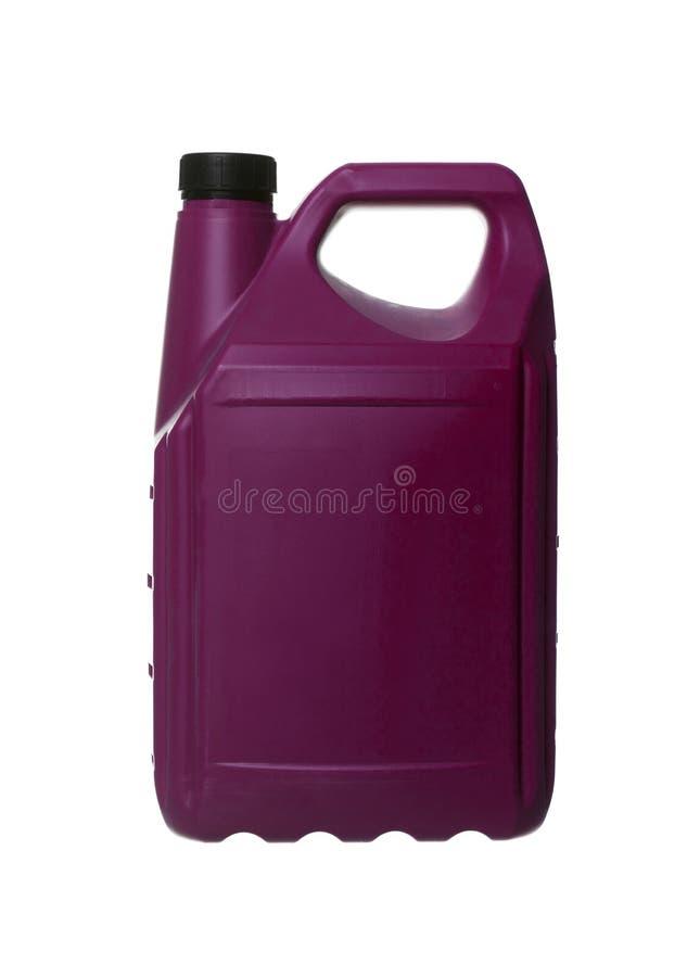 Фиолетовая чонсервная банка пластмассы стоковое изображение rf