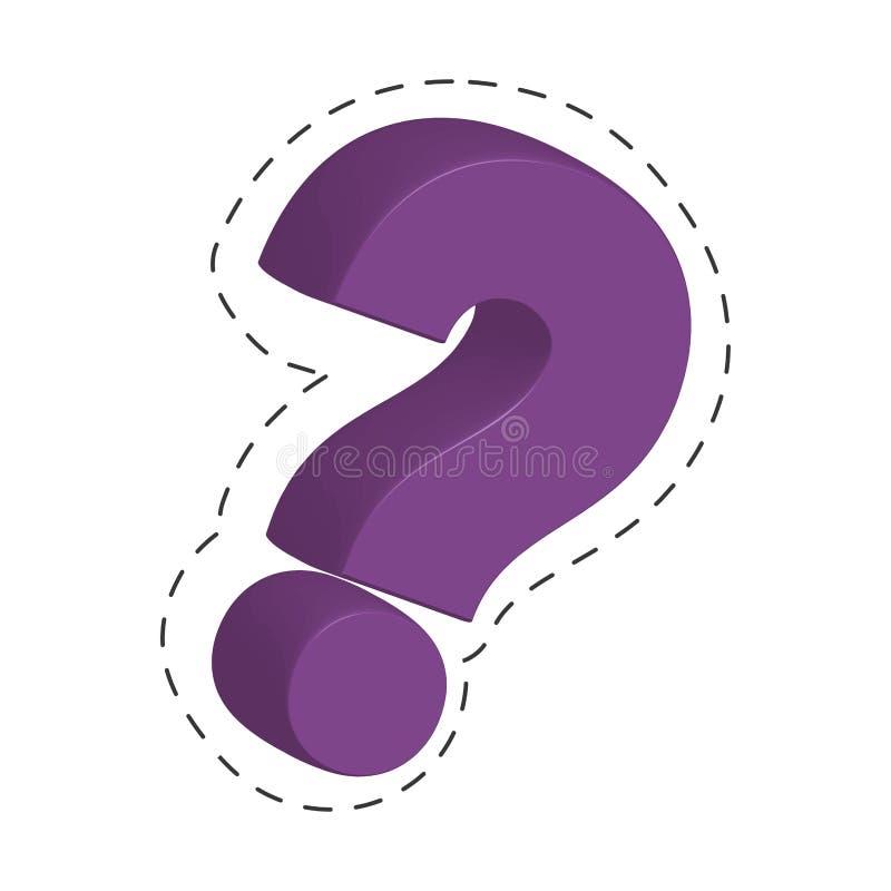 фиолетовое изображение вопросительного знака бесплатная иллюстрация