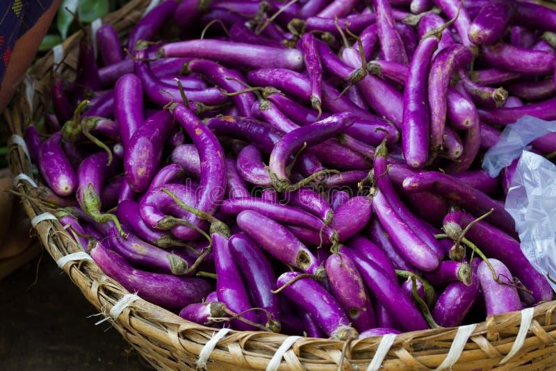 Фиолетовые aubergines стоковая фотография