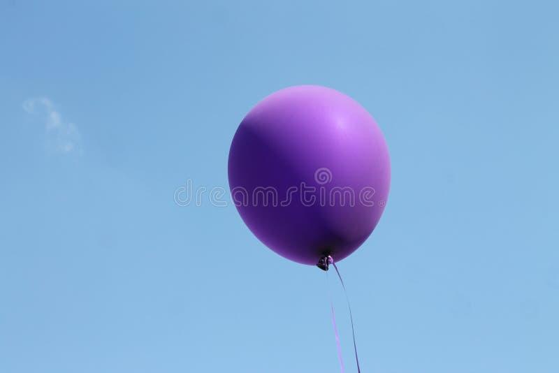 Фиолетовый воздушный шар стоковые изображения