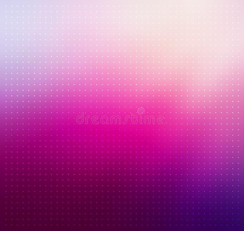 Фиолетовый градиент Поставленная точки предпосылка вектора иллюстрация штока