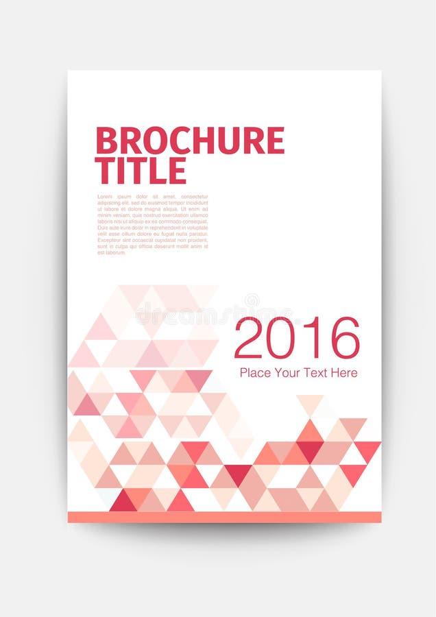 фиолетовый красный шаблон рогульки желтого цвета плана дизайна шаблона брошюры иллюстрация вектора