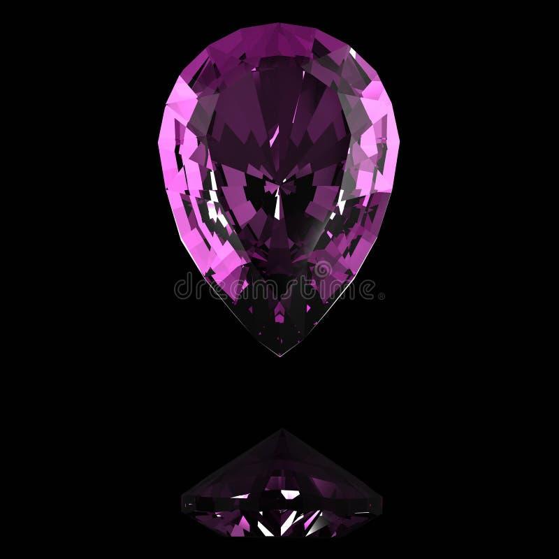 Фиолетовый самоцвет стоковая фотография rf