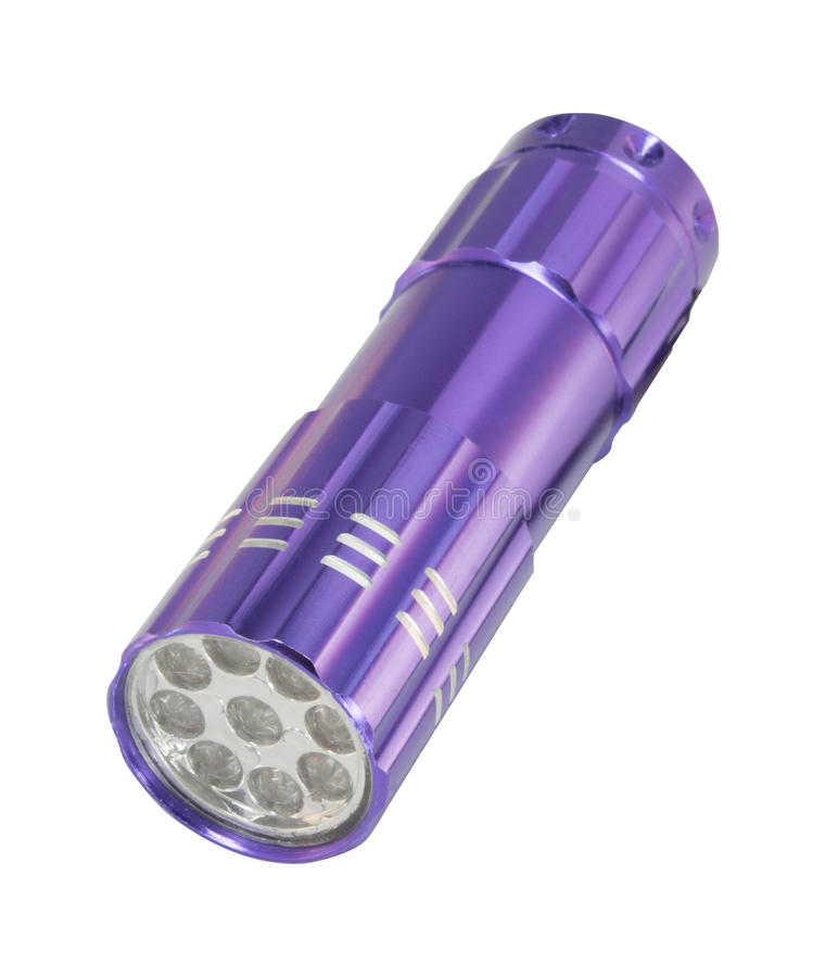 Фиолетовый электрофонарь СИД стоковая фотография