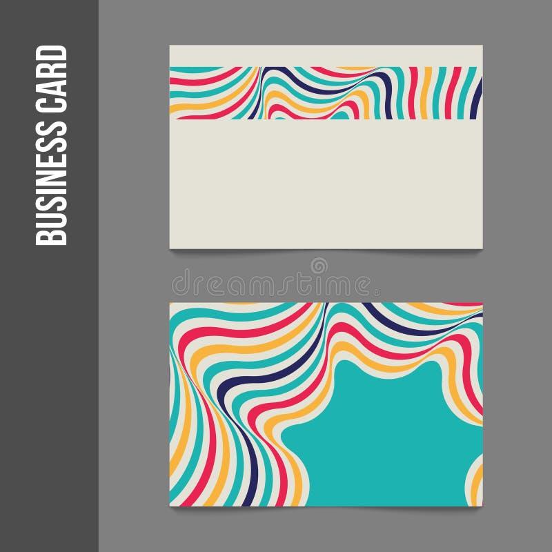 Фирменный стиль - визитные карточки иллюстрация вектора