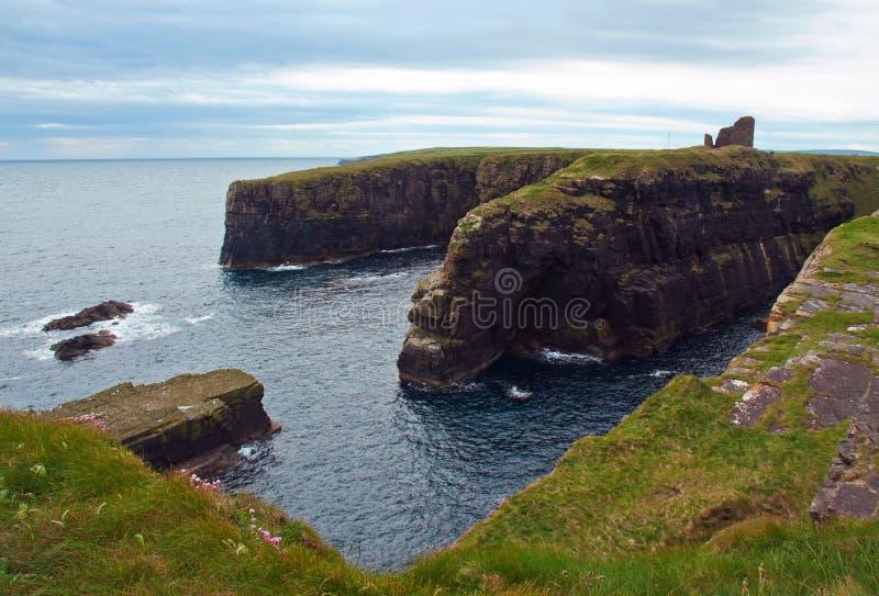фитиль Шотландии Великобритании замока caithness старый стоковое изображение