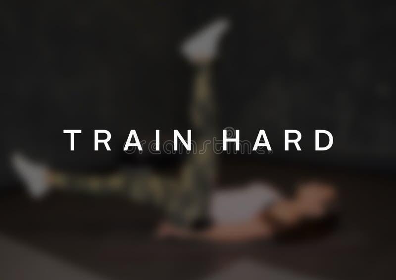 Фитнес и цитата мотивировки спортзала стоковое фото rf