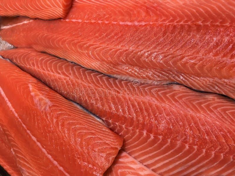 Филе красного крупного плана рыб стоковое фото rf