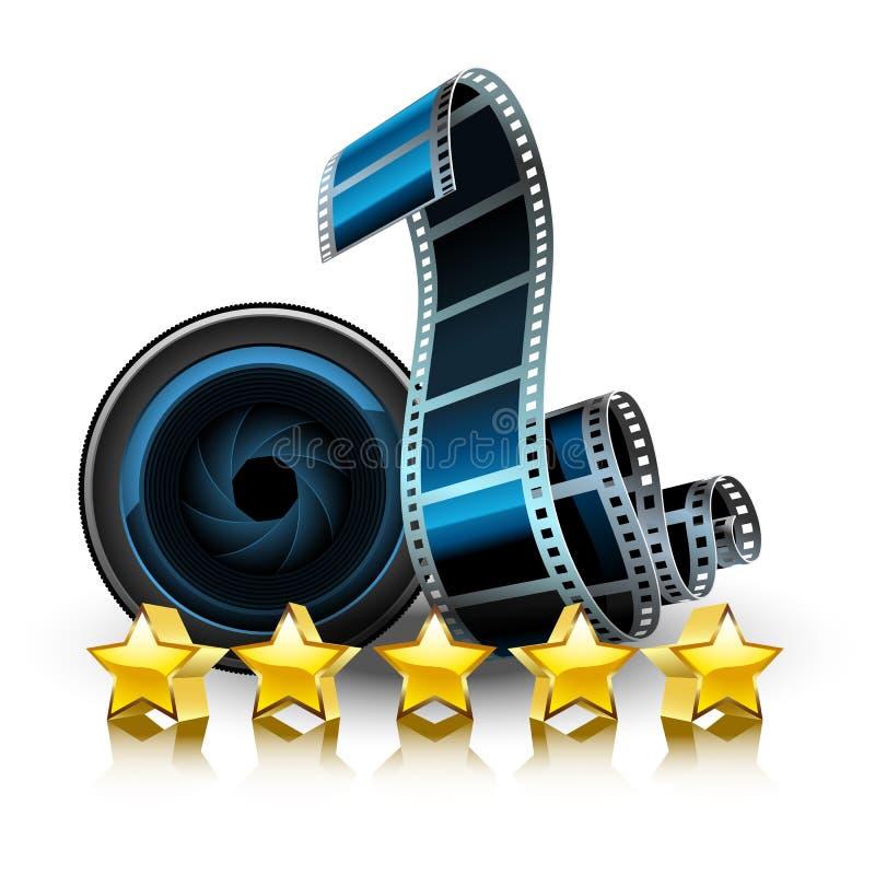 Фильмы, объектив и звезды бесплатная иллюстрация