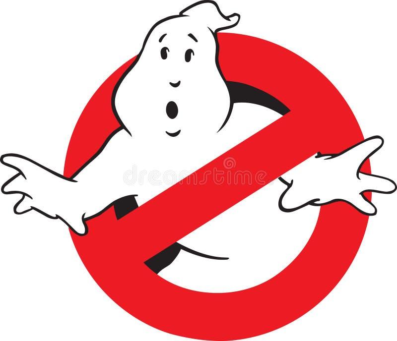 Фильм логотипа кино Ghostbusters иллюстрация вектора