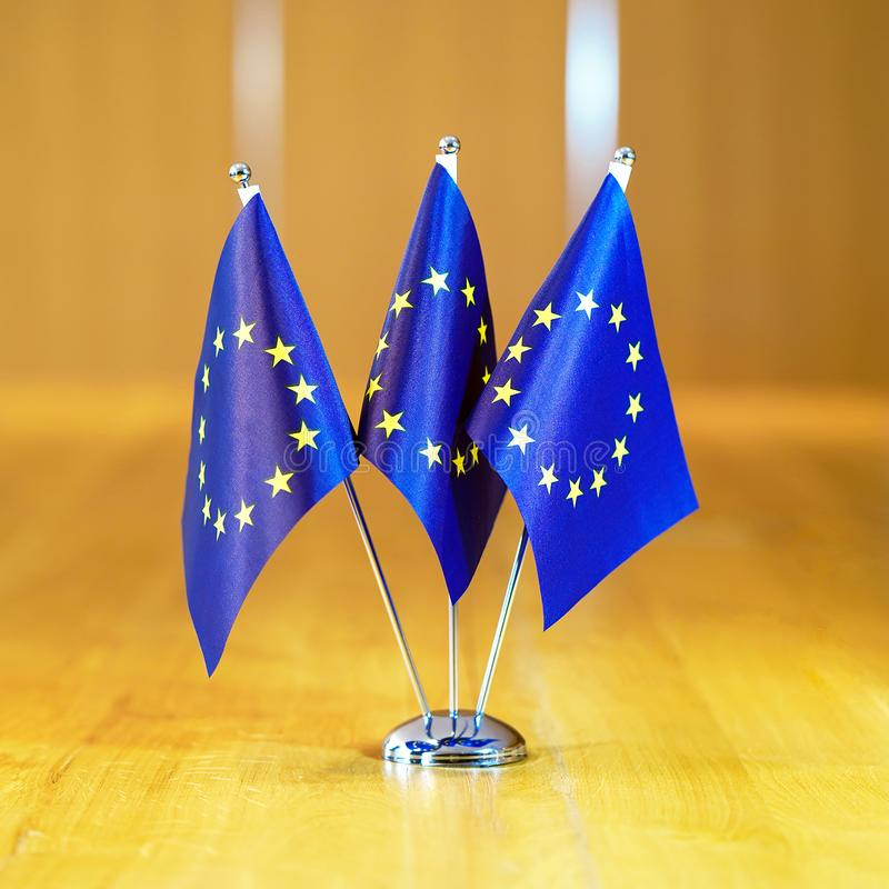 Флаги Европейского союза стоковая фотография rf