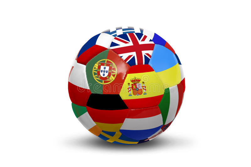 флаги евро шарика стоковая фотография