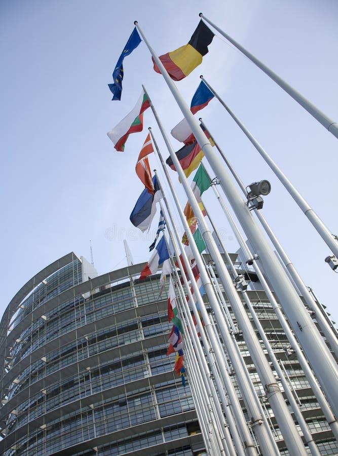 флаги евро стоковое изображение
