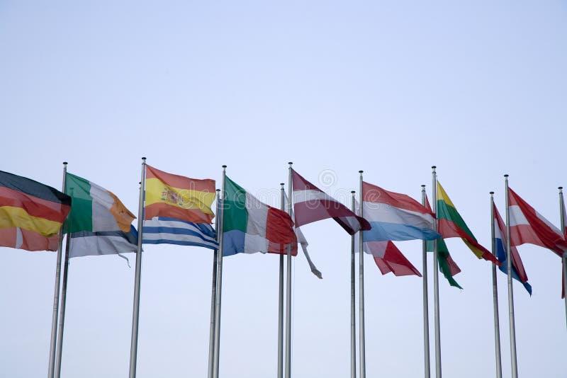 флаги евро стоковые фотографии rf