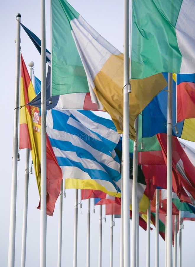 флаги евро стоковое изображение rf