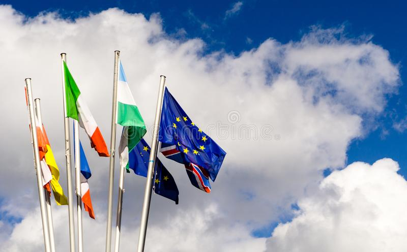 Флаги и нации европейца стоковое фото rf