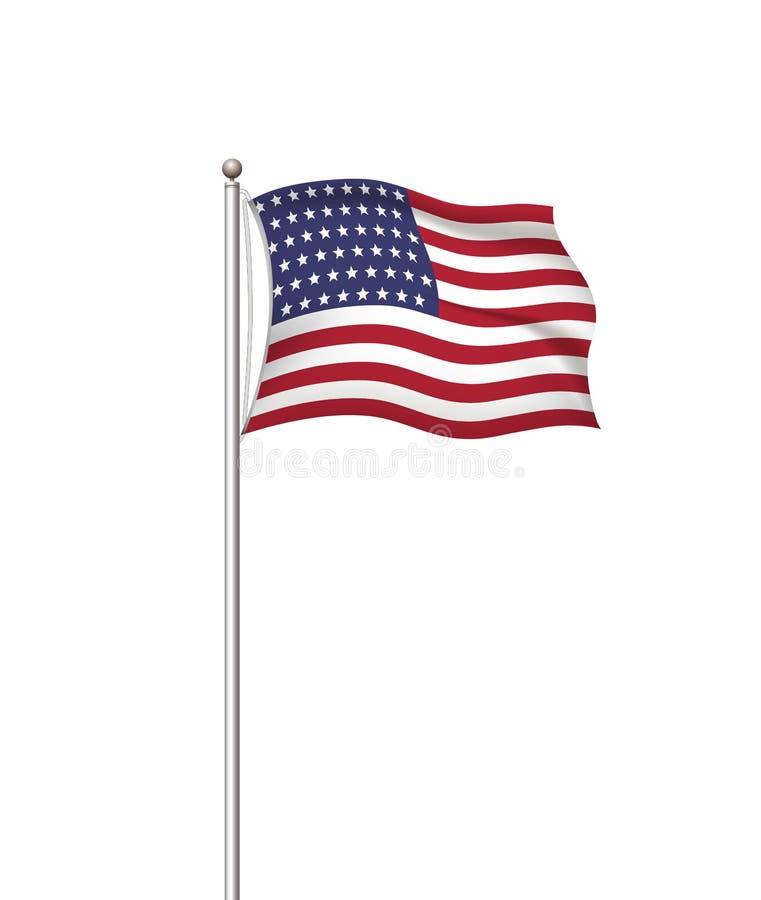 Флаги мира Предпосылка столба национального флага страны прозрачная США Соединенные Штаты Америки r иллюстрация штока