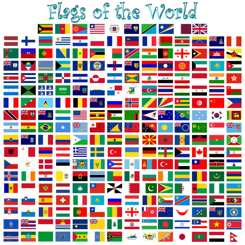 Флаги мира иллюстрация вектора