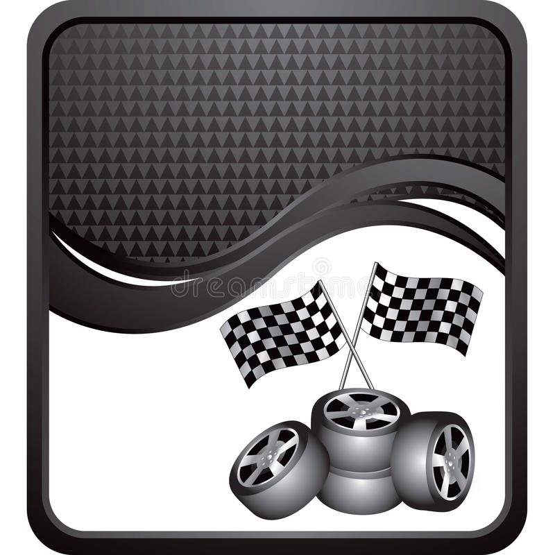 флаги объявления черные checkered участвуя в гонке волна автошин бесплатная иллюстрация