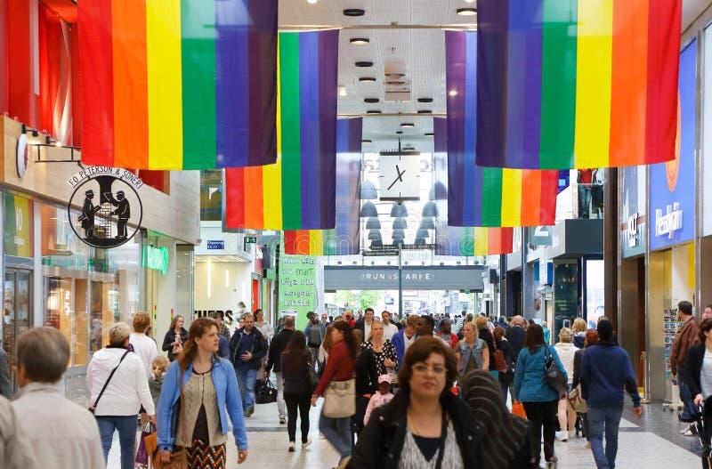 Флаги радуги стоковая фотография rf
