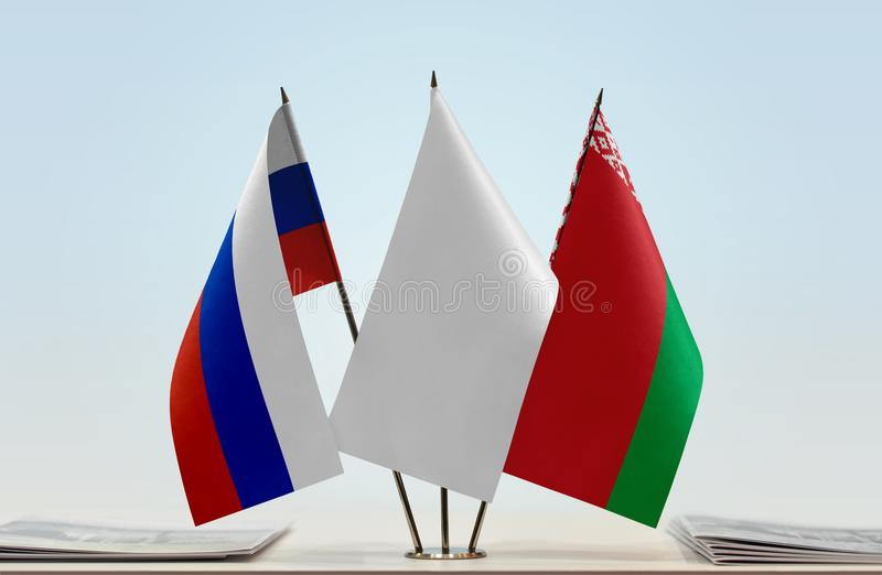 Флаги России и Беларуси стоковое изображение rf