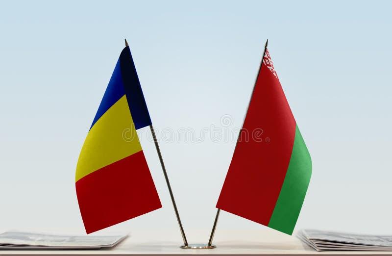 Флаги Румынии и Беларуси стоковые фото