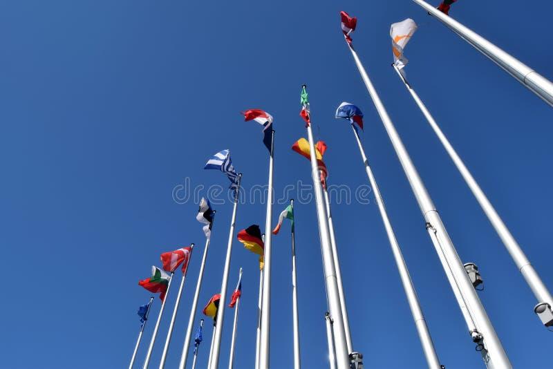 Флаги символа положений EC соединения 01 стоковые изображения rf