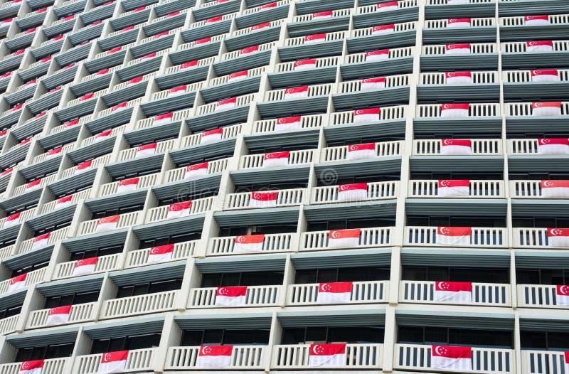 Флаги Сингапур стоковые фотографии rf