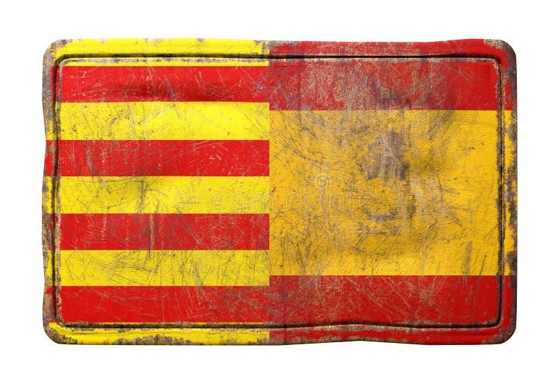 Флаги смешиваний Каталонии и Испании бесплатная иллюстрация