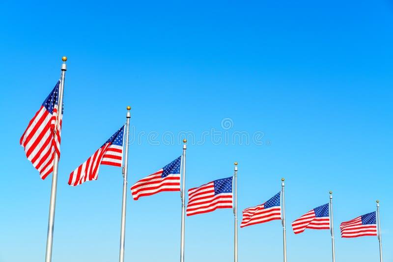 Флаги Соединенных Штатов стоковое изображение rf