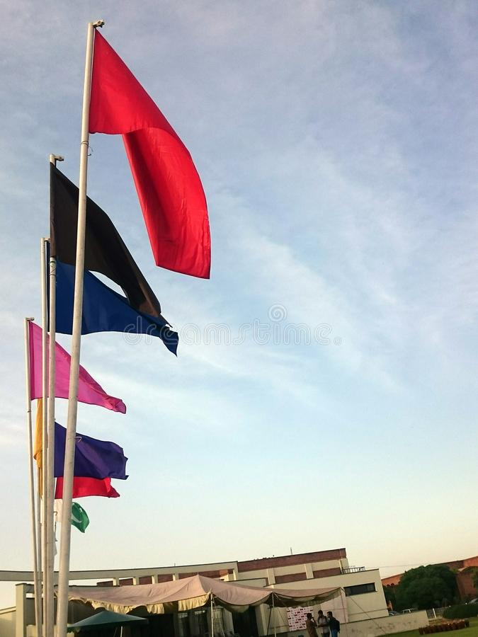 Флаги спорт стоковая фотография rf