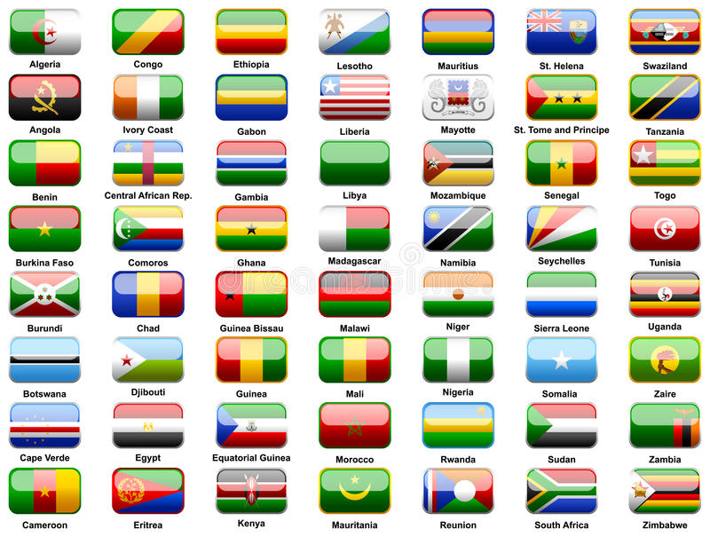 флаги стран африканцев