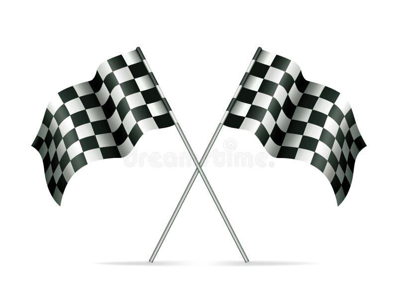 флаги участвуя в гонке 2 иллюстрация вектора